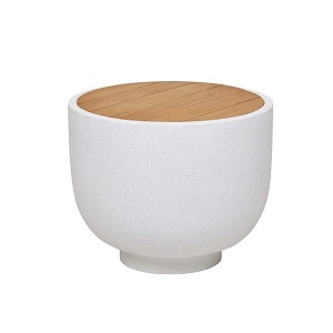Livorno Large Bowl Side Table - White