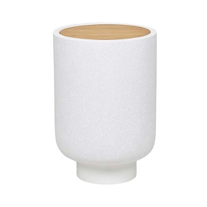 Livorno Small Bowl Side Table - White