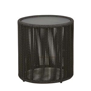 Villa Rope Low Side Table - Charcoal