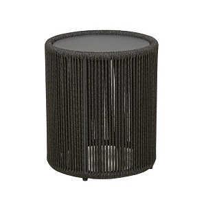 Villa Rope Tall Side Table - Charcoal