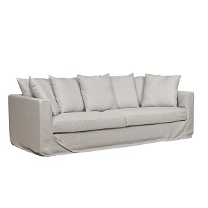 Aruba Upholstered 3 Seater Sofa - Putty