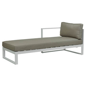 Cancun Ali Left Chaise - White