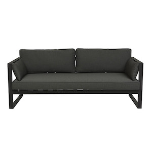 Cancun Ali 3 Seater Sofa - Charcoal/Black