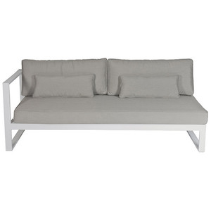 Cancun Ali 3 Seater Sofa Left Arm - White