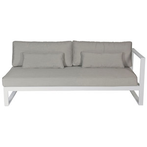 Cancun Ali 3 Seater Sofa Right Arm - White