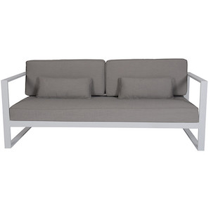 Cancun Ali 3 Seater Sofa - Pale Grey/White
