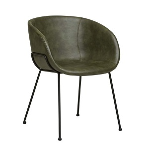 Duke Arm Chair - Vintage Matt Green PU