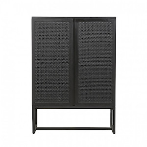 Willow Woven Storage Unit - Ebony