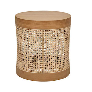 Willow Woven Side Table - Teak