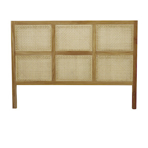 Willow Woven Queen Bedhead - Teak