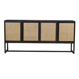 Willow Woven Buffet - Ebony/Natural