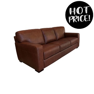 NICK 3 Seater Leather Sofa by M&D