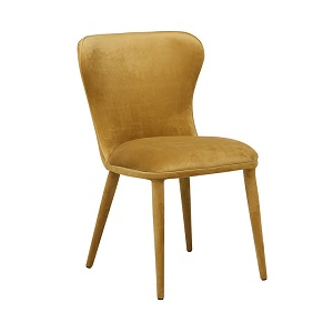 Eloise Dining Chair - Honey Velvet