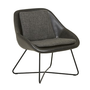 Stefan Occasional Chair - Woven Charcoal Black