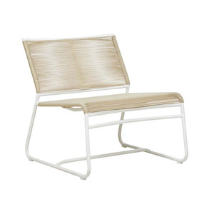 Marina Slouch Occasional Chair - Beige/White