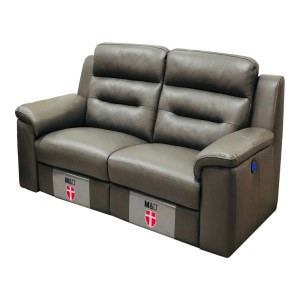 ZEB2 3 Seater Reclining Electric Leather Sofa by Milano and Design