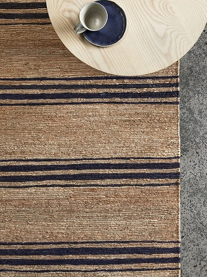 River Rug - Ticking Stripe by Armadillo