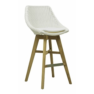 Noosa Backrest Barstool - White