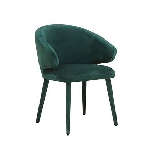 Freya Arm Chair - Dark Green