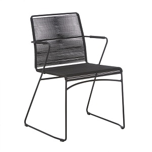 Marina Sleigh Arm Chair - Licorice