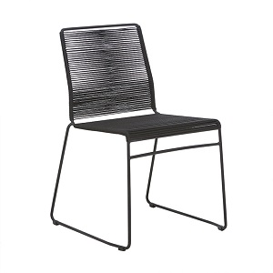 Marina Sleigh Dining Chair - Licorice