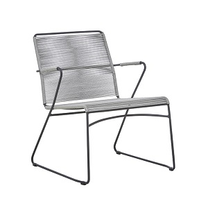 Marina Sleigh Occasional Chair - Misty Graphite