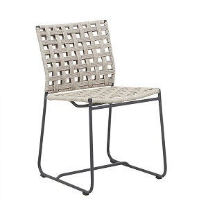 Marina Square Dining Chair - Graphite Shell