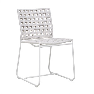 Marina Square Dining Chair - White