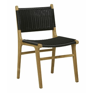 Noosa Open Dining Chair - Black
