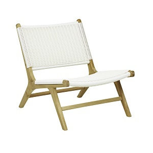 Noosa Open Occasional Chair -White