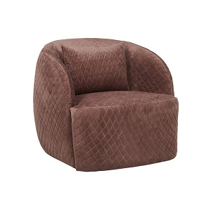 Penelope Quilted Occasional Chair - Dust Berry
