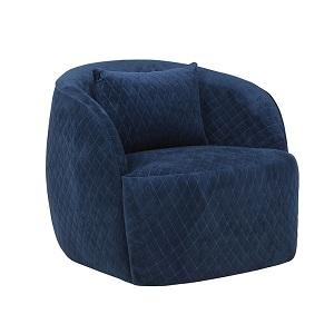 Penelope Quilted Occasional Chair - Navy