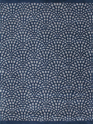Cobblestone Rug - Navy and Grey