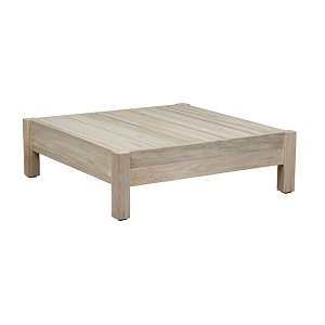 Marina Cube Square Coffee Table - Aged Teak