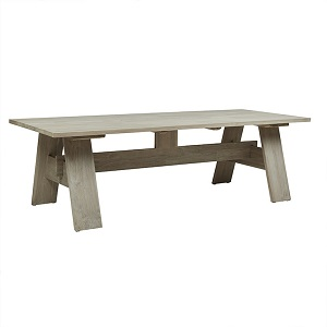 Marina Dining Table 2.5m - Aged Teak