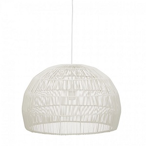 Marina Dome Ceiling Pendant - Chalk