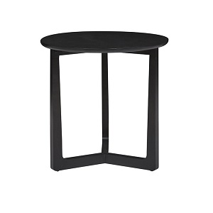Geo Round Side Table - Charcoal