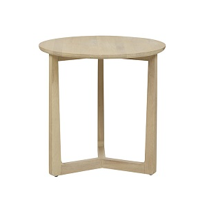 Geo Round Side Table - Natural Oak