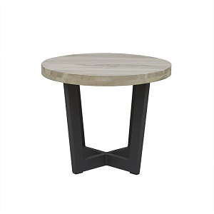 Marina Cross Side Table - Graphite