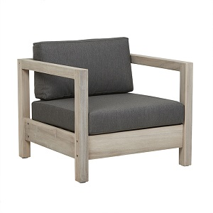 Marina Cube Sofa Chair - Dark Grey