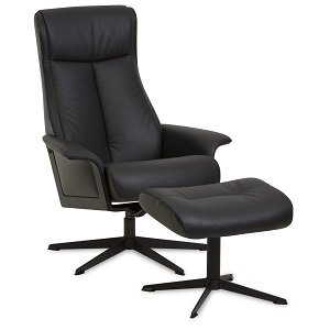 Scandi 1200 Recliner & Ottoman by IMG - Prime Leather