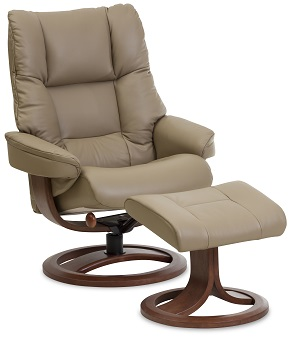 Nordic 60 Recliner & Ottoman by IMG - Prime Leather