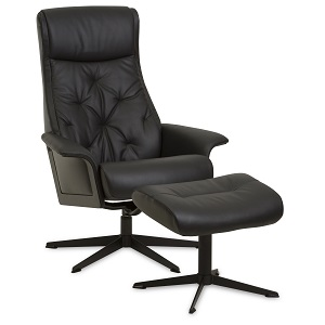 Scandi 1100 Recliner & Ottoman by IMG - Prime Leather