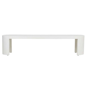 Ossa Concrete Bench Seat White