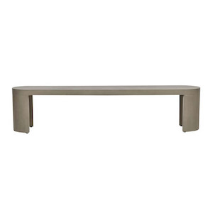 Ossa Concrete Bench Seat Grey