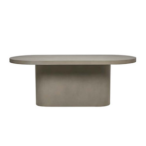 Ossa Concrete Oval Dining Table Grey