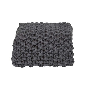 Iggy Knitted Throw - Charcoal