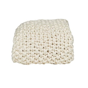 Iggy Knitted Throw - Ivory