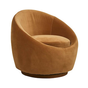 Kennedy Globe Occasional Chair - Toffee Velvet