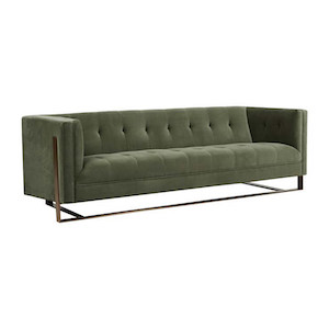 Kennedy Tufted 3 Seater Sofa - Olive Green